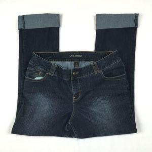 Lane Bryant Cropped Blue Denim Jeans GUC 18T